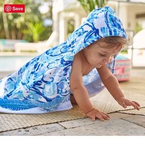 NEW Lilly Pulitzer Blue Print Baby Beach Wrap